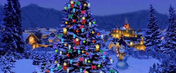Juletretenning med fakkeltog